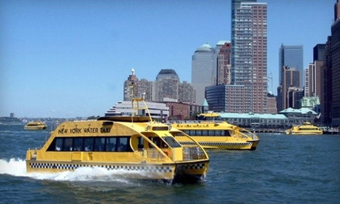 New York Water Taxi and Circle Line Downtown - Financial District: $13 for an NYC Boat Tour from New York Water Taxi and Circle Line Downtown (Up to $27 Value)