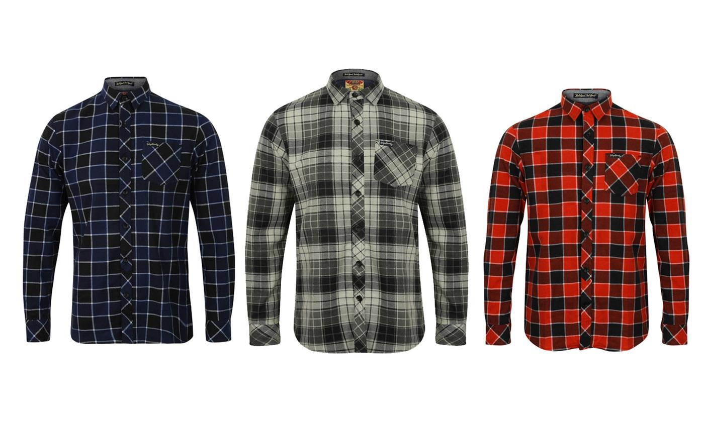 Tokyo Laundry Men's Checked Cotton Flannel Shirt