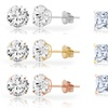 14K Gold-Plated Round or Square Stud Earrings by Dazzling Kiddos
