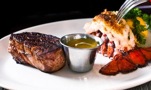 Cafe West: Seafood and Steaks for Dinner or Lunch at Cafe West (Up to 45% Off). Three Options Available.