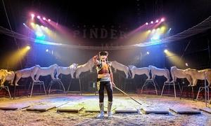 Cirque Pinder: 1 place en tribune 1ère série pour l'une des représentations du Cirque Pinder à 15 €
