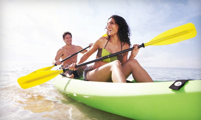 Atlantic Boat Rentals - Pompano Beach Park: Four Hours of Single or Tandem Kayak Rental from Atlantic Boat Rentals in Pompano Beach (Up to 75% Off)