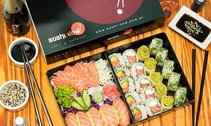 Sushi Now: Desde $209 por 30 o 60 piezas de sushi 100% salmón con delivery en Sushi Now