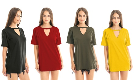 VNeck Casual Tunic Mini Dress: One $15 or Two $25