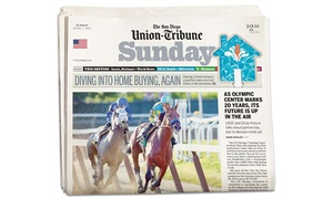 The San Diego Union-Tribune: One- or Two-Year Sunday Subscription to The San Diego Union-Tribune (94% Off)