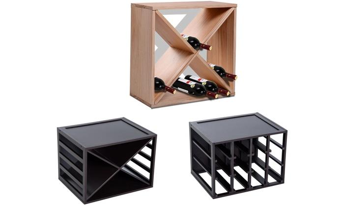 Homcom Cube Wine Rack for 12, 16 or 24 Bottles
