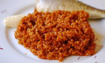 Menú de caldero de pescado con entrantes, postre y bebida para 2 o 4 personas desde 26,95 € en Restaurante Trabuco