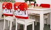 6-Pc Christmas Hat Chair Covers