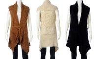 GROUPON: Juniors' Crocheted Sweater Vest Juniors' Crocheted Sweater Vest