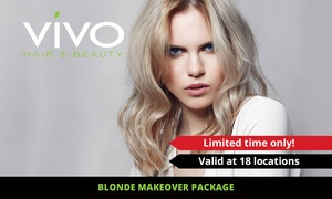 Vivo Hair and Beauty: $169 for Blonde Makeover Pkg with Colour, Olaplex Treatment & Blow-Wave at Vivo Hair and Beauty (Up to $334 Value)