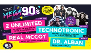 Mega 90s: Mega 90's Entry Ticket, 17 - 25 March at Choice of Locations (Up to $79.90 Value)
