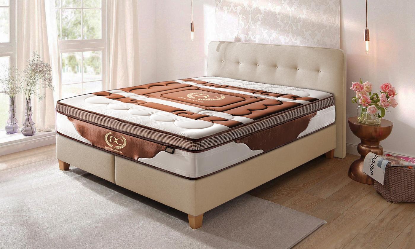 Matelas à mémoire de forme et ressorts ensachés Diplomatico, Marque Sampur, avec lit en option