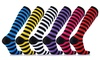 XTF Striped Compression Socks for Men and Women (6 Pairs)