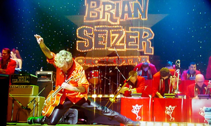 Brian Setzer Orchestra: Christmas Rocks! Extravaganza - Universal City: Brian Setzer Orchestra Christmas Concert at Gibson Amphitheatre on Saturday, December 22, at 8:15 p.m.