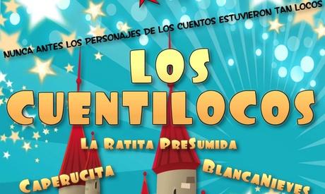 Entrada para el show infantil 'Cuentilocos' el 9, 16 o 23 de febrero por 8 € enTeatro Victoria