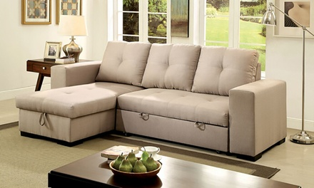 Denton sectional sofa sleeper ny furniture man groupon for Sectional sofa groupon