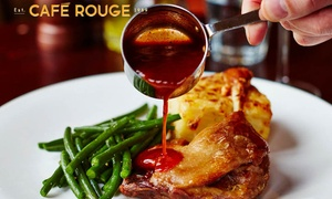 Café Rouge: Choice of Main Course with Drinks for Two or Four at Café Rouge, Multiple Locations (Up to 50% Off)
