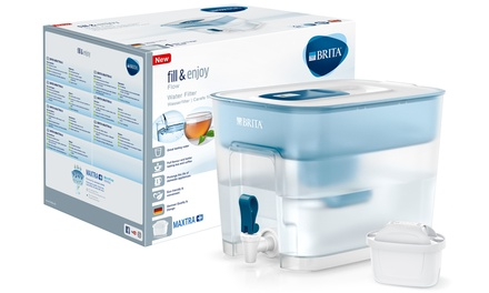 Brita Flow 8.2L Water Filter Dispenser with One or Seven Cartridges