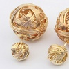 18K Gold-Plated Double-Sided Wire-Ball Earrings