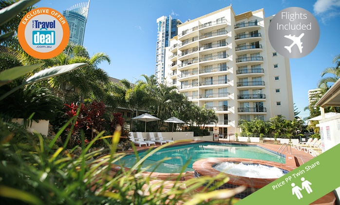 Surfers Paradise: From $599 Per Person for a Five-Night Queensland Getaway with Flights and Wine at Palazzo Colonnades
