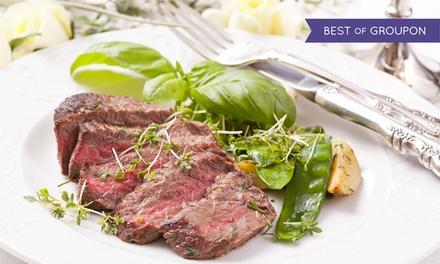 Menu di carne con tris di tagliata da 900 grammi, dolce e vino all'osteria La Nuova Quercia (sconto fino a 63%)