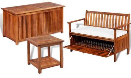 Opbergbank van Acaciahout keuze uit 3 modellen