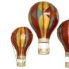 Urban Designs Metal Hot Air Balloon Wall Art (Set of 3)