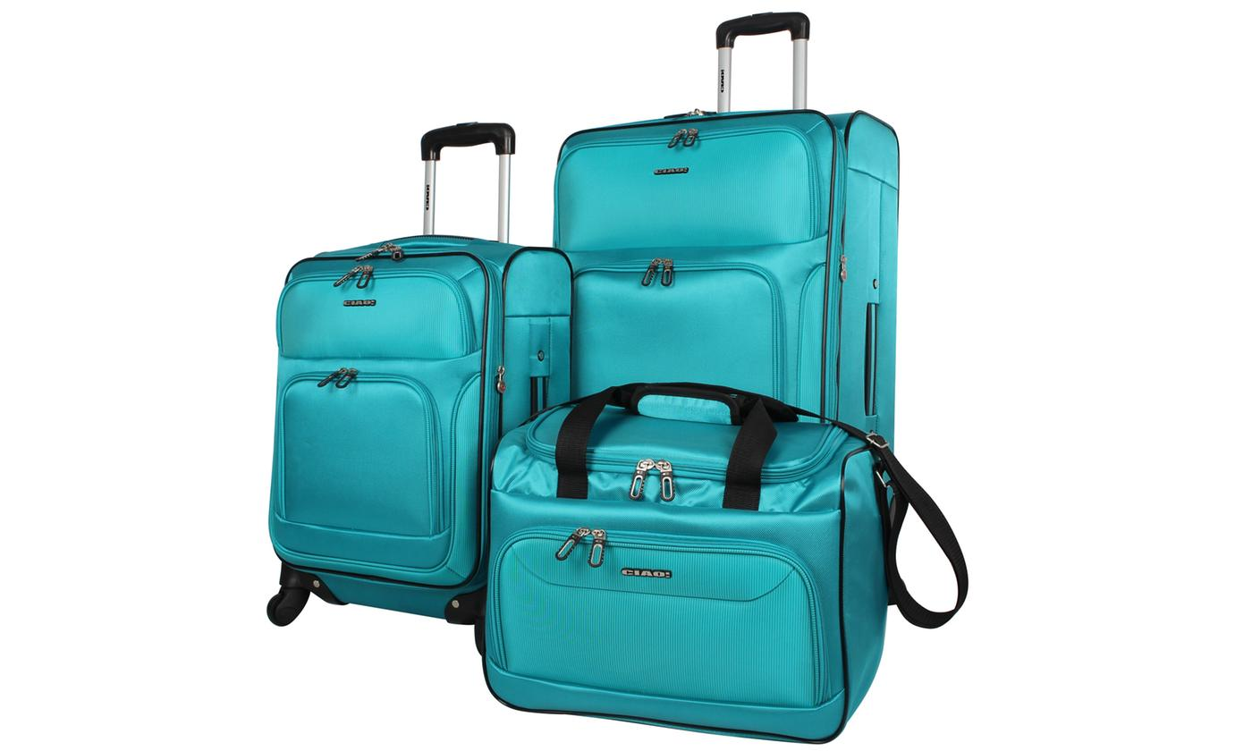 Ciao 3-Piece Sport Challenger Spinner Luggage Set