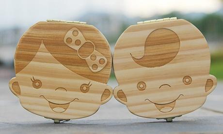 1, 2 ou 3 boîtes à dents de lait en bois pour fille ou garçon