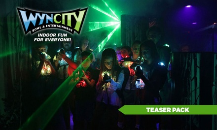 TEASER PACK: $12.90 for Bowling or Laser Tag Pass at Wyncity Bowl & Entertainment - Morwell (Up to $19.50 Value)