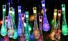 Jusqu'à 100 guirlandes lumineuses solaires à gouttes d'eau à LED