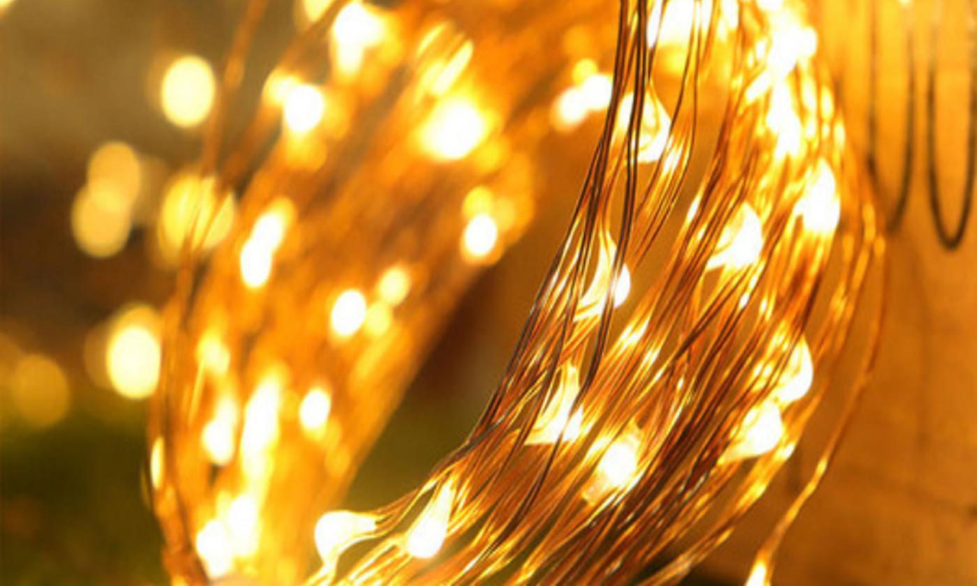 20m Solar 200-LED String Lights