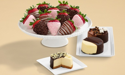 $32 for Full Dozen Mother's Day Berries & Dipped Cheesecake Trio from Shari's Berries (47% Off)