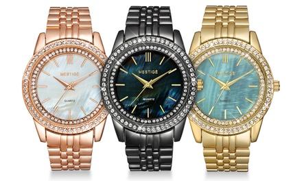 Neverland Sales Armbanduhr verziert mit Kristallen von Swarovski® inkl. Versand