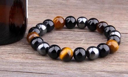 One, Two or Four Tigers Eye Bracelets