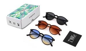 Lot de trois paires de lunettes de soleil Twig