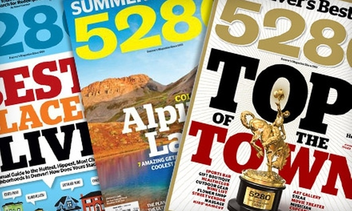 5280 Magazine: $7 for 12 Issues of 5280 Magazine ($12 Value)