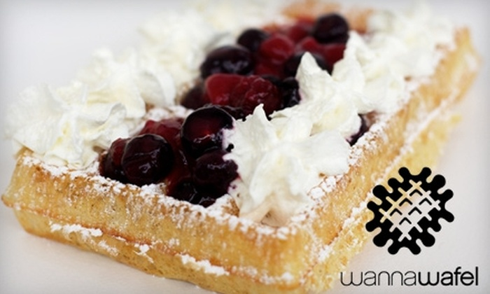 WannaWafel - Downtown: $10 for $20 Worth of Waffles and Toppings at WannaWafel