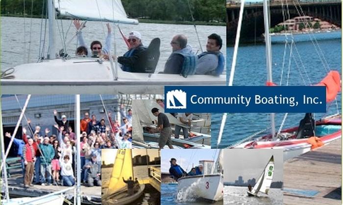 Community Boating, Inc - Boston: $50 One-Month Community Boating Membership (Half-Off)