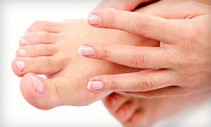 Auras Salon & Spa - Brighton: Shellac Mani and Classic Pedi or Two Shellac Manicures with Paraffin Treatments at Auras Salon & Spa (Up to 56% Off)