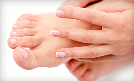 2 Shellac Manicures with Paraffin Treatments (an $80 value) - Auras Salon & Spa in Rochester