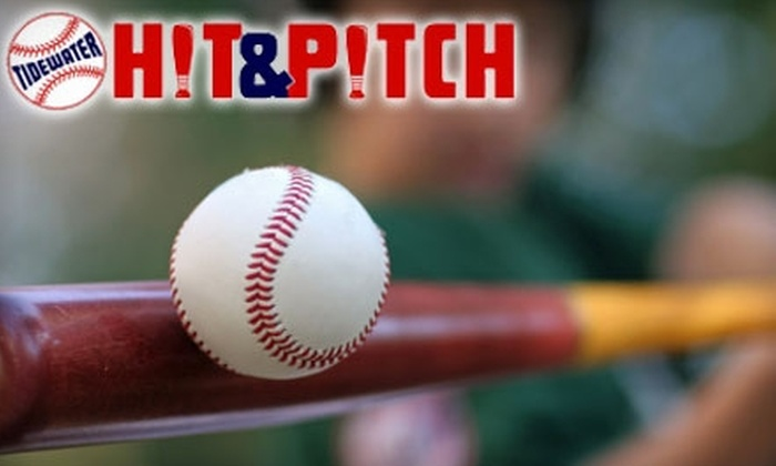 Tidewater Hit & Pitch - Norfolk: $12 for One Hour of Indoor Batting-Cage Rental at Tidewater Hit & Pitch in Norfolk ($25 Value)