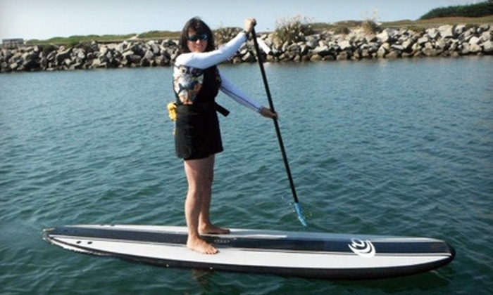 SUP Shack - Santa Cruz Harbor: Two-Hour Standup-Paddleboard Rental or 90-Minute Beginners Lesson from SUP Shack (Up to 52% Off)