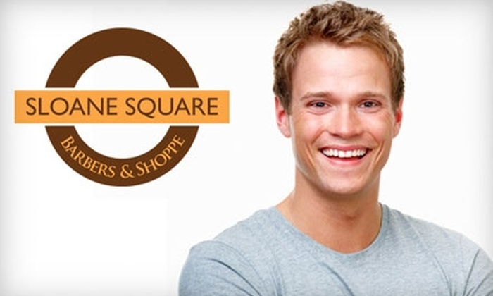 Sloane Square Barbers & Shoppe - West Avenue: $13 for Luxury Haircut ($26 Value) or $29 for Luxury Shave and Haircut Package ($58 Value) at Sloane Square Barbers & Shoppe