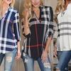 Karierte Bluse aus 100% Baumwolle