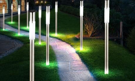 2, 4 o 6 faroles solares LED para jardín