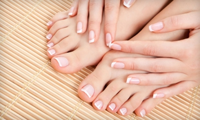 Gloss Nail Studio - Arden - Arcade: $30 for a Glitter Mani-Pedi at Gloss Nail Studio ($65 Value)