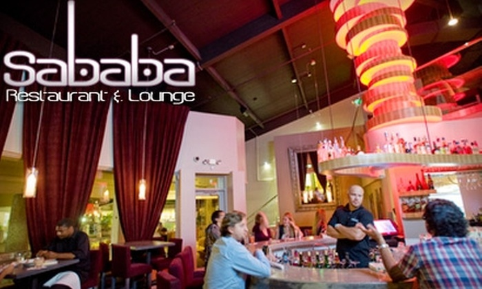 Sababa Restaurant and Lounge - Marina Pacifica: $45 for a Three-Course Prix Fixe Dinner for Two at Sababa Restaurant and Lounge in Long Beach ($90 Value)