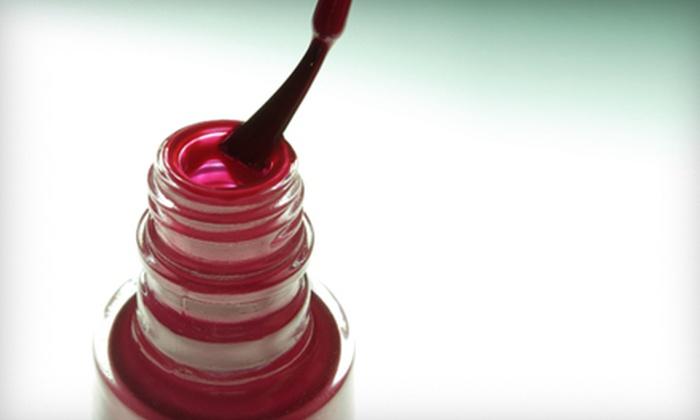 Fusions Salon & Day Spa - Deyerle: Basic Mani-Pedi or Mani-Pedi With Gel Polish at Fusions Salon & Day Spa