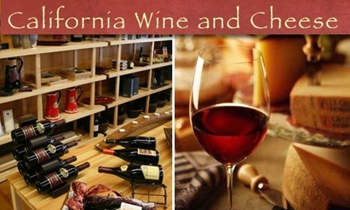 California Wine and Cheese - Monrovia: $15 for One Wine Flight with Cheese Pairings at California Wine and Cheese (Up to $30 Value)